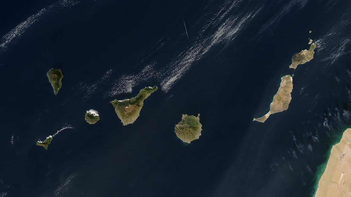Imagen satélite Islas Canarias